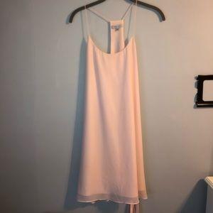 Light Pink Polyester mini dress